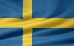 rippled Swedish flag